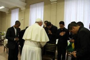 Папа с семинаристами